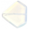 30x35mm White Stone Triangle Semi-Precious